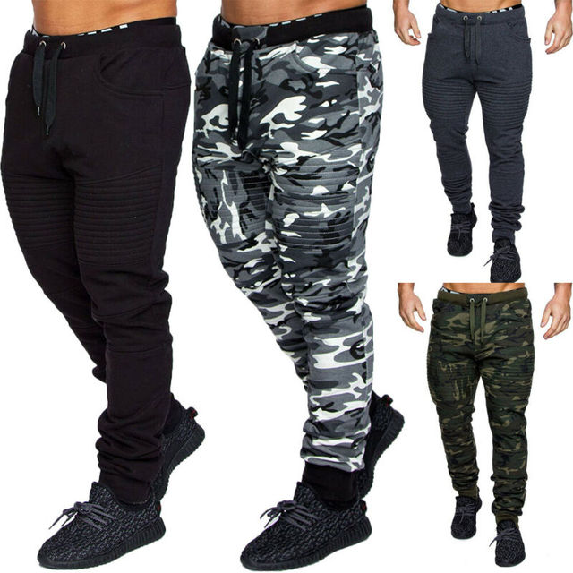 NEW Men's Military Army Sweat Pants Casual Camo Work Outdoor Zip Fly Cargo Pants Camouflage pants 2