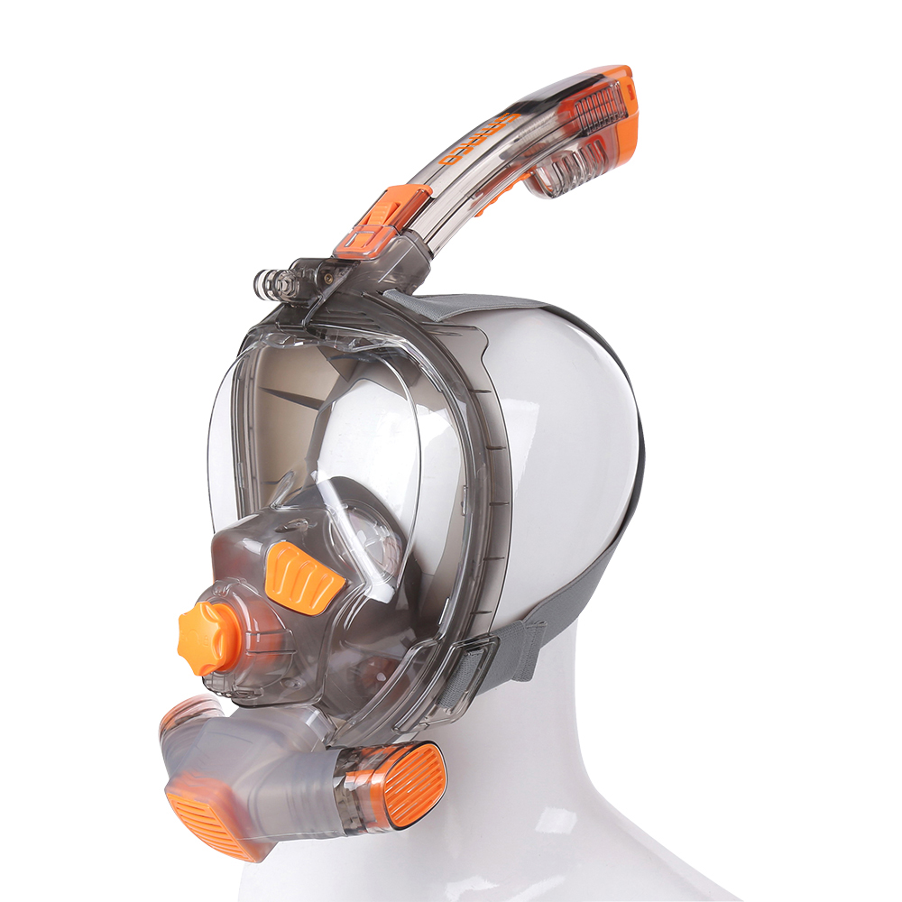 SMACO Full Face Scuba Diving Mask for Anti Fog Goggles Underwater Wide View Foldable Transparent Snorkel Swimming Mask