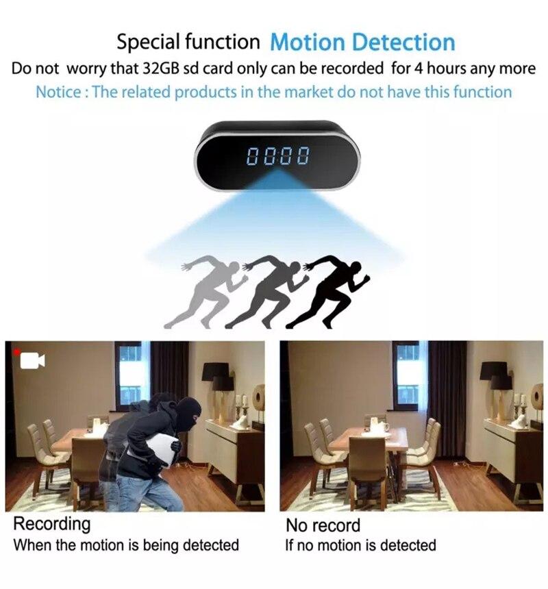 alarm clock HD Clock WiFi Camera Mini IP home security Camcorder P2P Night Vision Alarm Motion Remote CCTV Camera (3)