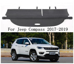 Car Rear Trunk Cargo Cover Security Shield Screen shade Fits For Jeep Compass 2017 2018 2019