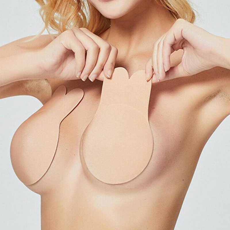Women Silicone Self-Adhesive Sticky Bra Strapless Push Up Seamless Invisible Bra Sexy Nipple Cover Wedding Underwear Dropship