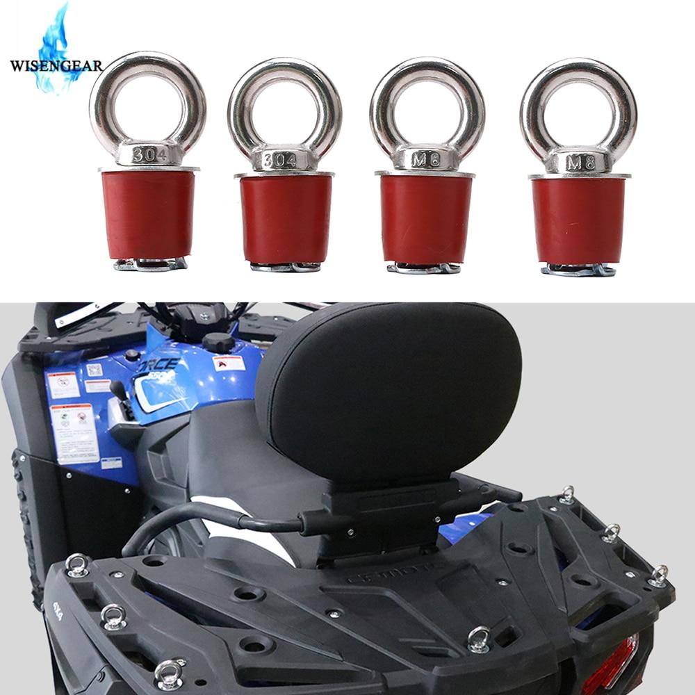 UTV ATV Lock Tie Down Anchor For Polaris RZR 570 900 XP Sportsman 110 400 450 ACE Snowmobile Cargo Rack Eye Bolt Fasteners Parts