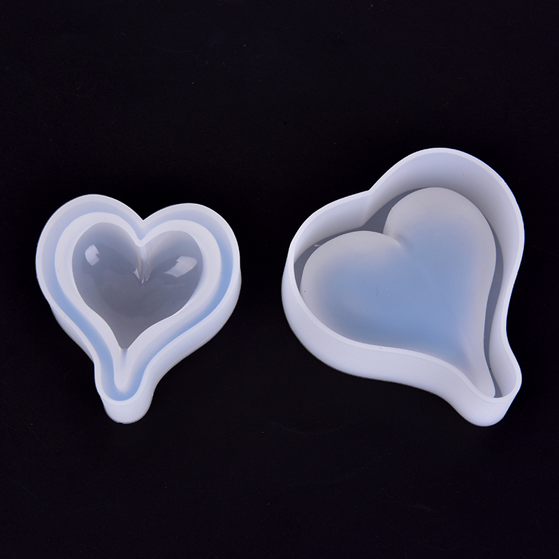 3D Diamond Love Heart Dessert Cake Silicone Mold Baking Pastry Decoration Handmade Crystal Epoxy Resin Cake Candy Moulds