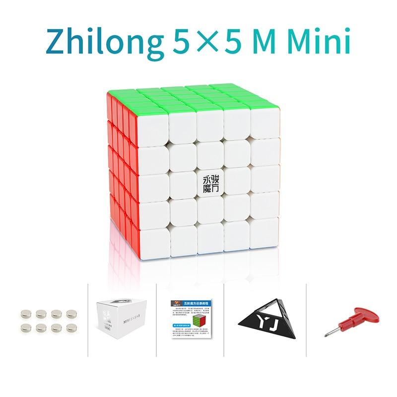 Original YJ Zhilong Mini 3x3 M 4x4 M 5x5 M Magnetic Speed Cubes Small Size YongJun Zhilong Magico Cube Puzzle Toys Magnetic Cube 8
