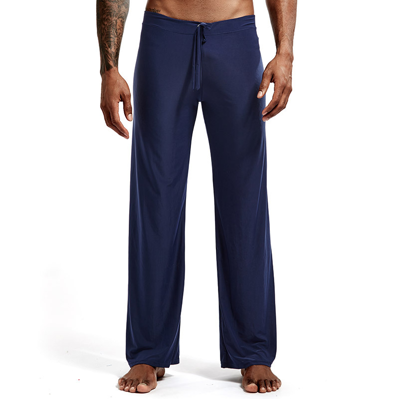 brand Sleep Bottoms Men's casual trousers soft comfortable Sleep Bottoms Homewear XXL pants pajama Lacing loose Lounge clothing