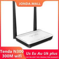 Multi Lingua Russa Version Tenda N300 Senza Fili WIFI Router 300Mbps WI-FI Ripetitore Del Ripetitore Extender 802.11 b/g/ n RJ45 4 Porte