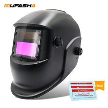 MUFASHA-casco de soldadura con filtro de oscurecimiento automático (ADF), máscara negra