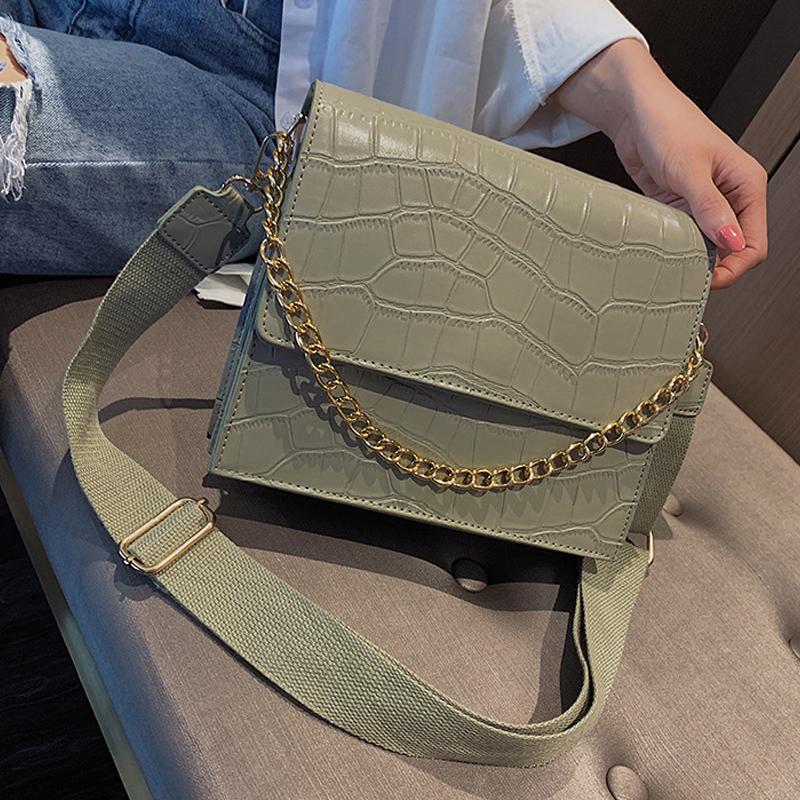 Female Crocodile Pattern Chain Women Tote 2019 New Quality Women's Designer Handbag High Capacity Ladies Shoulder Messenger Bags