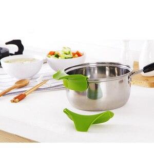 Кухонные принадлежности силиконовая воронка инструменты для приготовления пищи Кухонные гаджеты горшки кухонные сковороды посуда для разлива дефлектор C1018 a