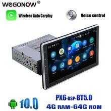 "10.1 ""Android 10 64GB Carplay PX6 ayarlanabilir DSP IPS 4G LTE araç DVD oynatıcı oynatıcı GPS harita RDS radyo wifi Bluetooth 5.0 evrensel"