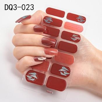 14pcs/sheet Glitter Gradient Color Nail Stickers Nail Wraps Full Cover Nail Polish Sticker DIY Self-Adhesive Nail Art Decoration 120