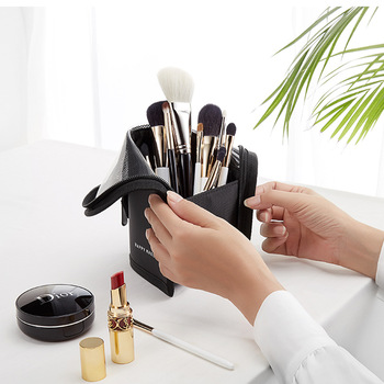 New Makeup Brushes pouch Portable mini trumpet Waterproof Travel Cosmetic Bag Organizer Female beauty Brush storage case 2