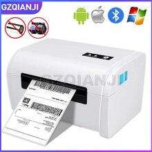 Termiczna drukarka etykiet kodów kreskowych 4 Cal 100mm z ramka na etykietę kompatybilny Ebay Etsy Shopify 4 × 6 wysyłka wysyłka drukarka kodów kreskowych