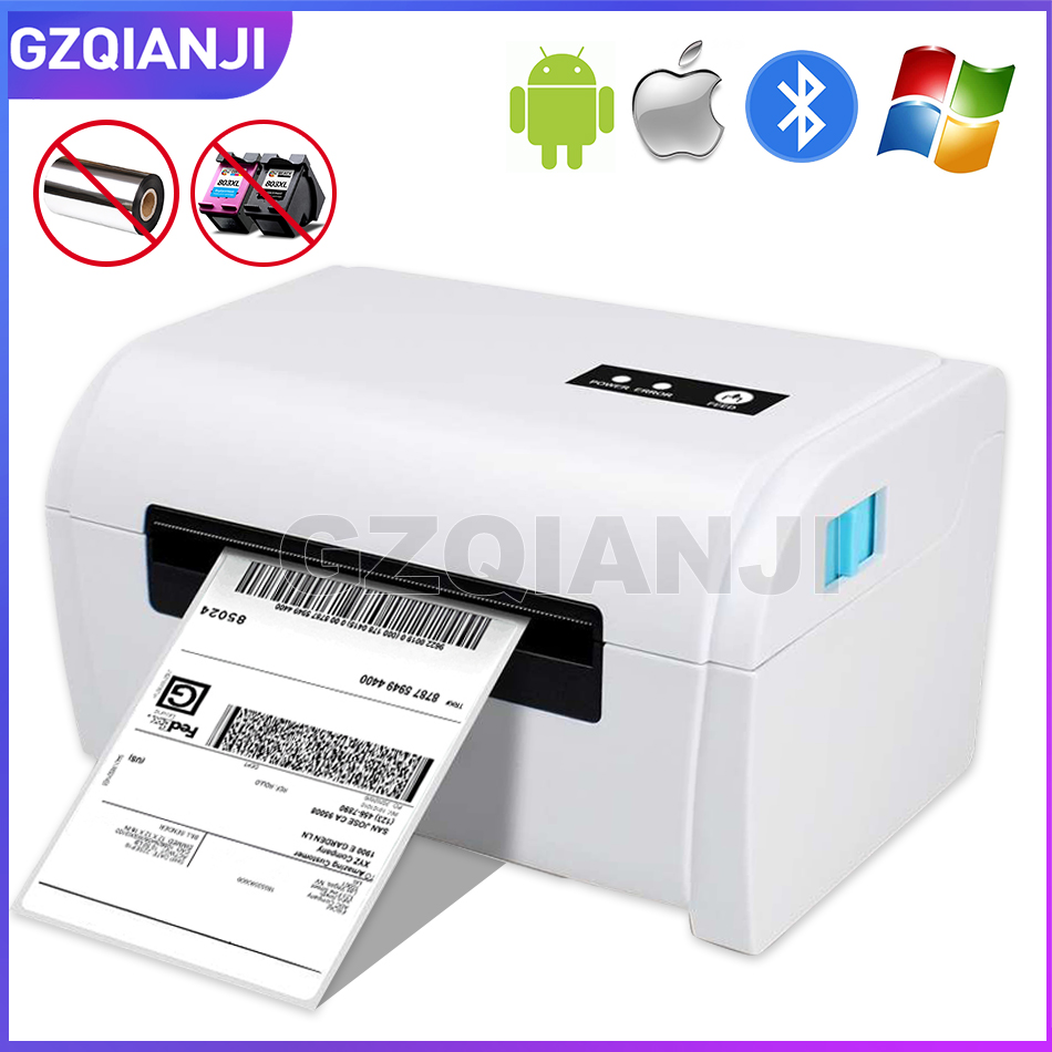 Thermal Barcode Label Printer 4 Inch 100mm With Label Holder Compatible With Amazon Ebay Etsy Shopify 4×6 Shipping Label Printer