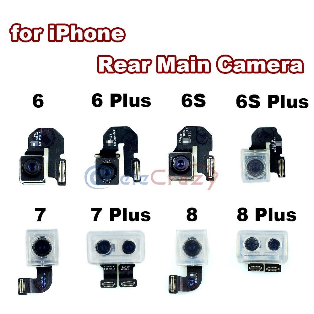 Original voltar principal módulo de câmera traseira para iphone 6 6 plus 6s 6s mais 7 mais 8 8 plus cabo flexível fita 100% testado
