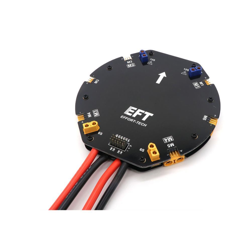 EFT كبيرة الحالية الطاقة لوحة توزيع PDB مجلس 12S 480A ل الزراعية drone Quadcopter Hexacopter-في قطع غيار وملحقات من الألعاب والهوايات على  مجموعة 1