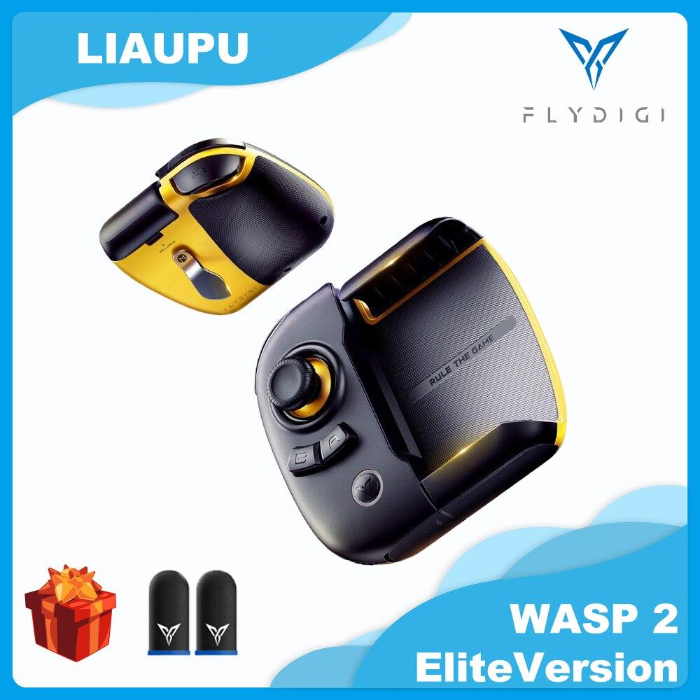Flydigi wasp 2 gamepad eliteversion bluetooth controlador sem fio pubgmobile para iphone/android controle de gatilho manche liso