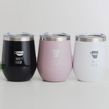 Mug solid color stainless steel mug cute simple portable water cup male and female students transparent pc plastic cup with tea compartment simple and fresh male and female students portable water cup high temperature