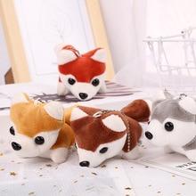 High quality 8 style plush toy dog 10-12 cm childrens gift siberian husky keychain doll WJ166