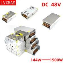 LVXMAS 48В DC освещение трансформатор питания 144W-1500Вт адаптер привод Сид свет для бара