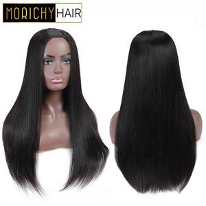 Morichy Hairstyle Human-Hair DIY Straight for Women Wigs U-Part Silk Full-Wig Glueless