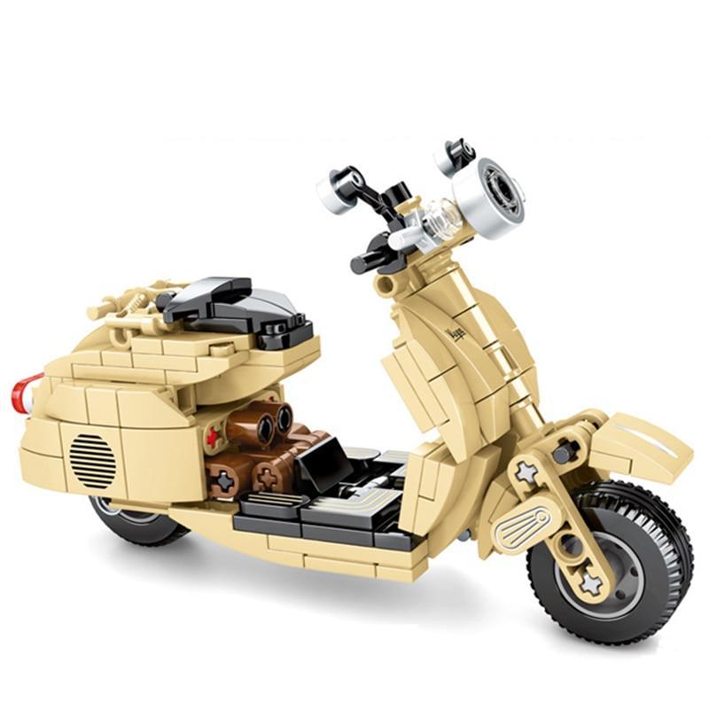 2020 Technic Series MOC Little Sheep Vespa Motor Cross Bike Electric Car Building Blocks Sets Motorcycle Parts Model Bricks