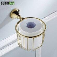John Obey Ware Toilet Wall Hangers Brass Pendant Gold-Plated Bathroom Hook Unit Kitchen Hardware Tissue Holder zhi jin lou