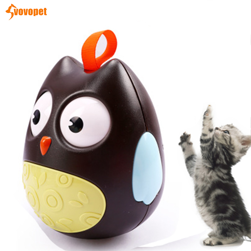Funny interactive Tumbler Ball cat toy intelligence Scratching rolling cat Kitten toy Smarter IQ Squeak cat play training toy in Cat Toys from Home Garden