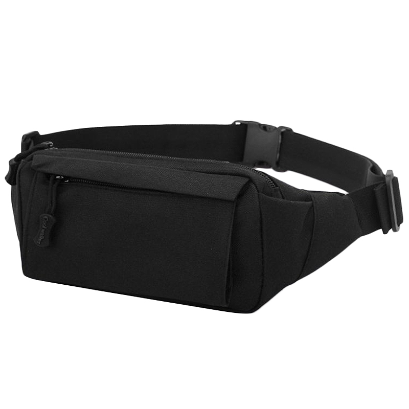 Fashion Men'S Vintage Fanny Pack Chest Shoulder Bag With 3 Pockets Nylon Minitary Multifunction Waist Belt Bum Bag School