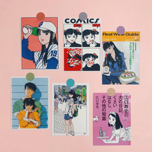 Japanese Retro Nostalgic Animation Card Sticker Small Poster Hand Account Decoration Dormitory Room Wall Decoration Postcard