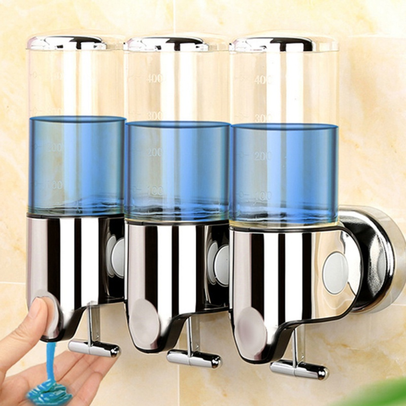 500/1000/1500Ml Liquid Soap Dispenser Wall Mount Bathroom Accessories Plastic Detergent Shampoo Dispensers Kitchen Soap Bottle
