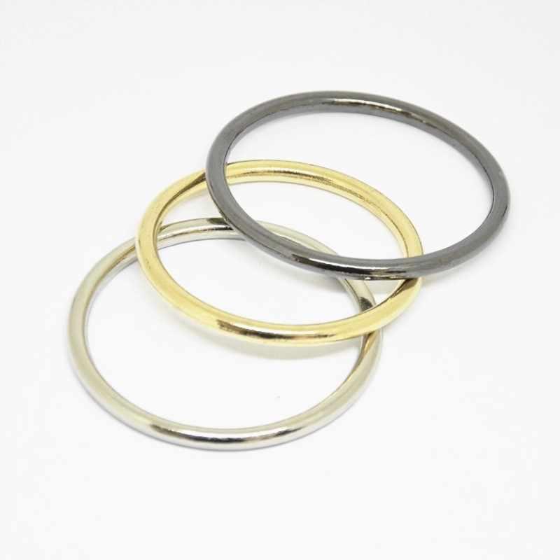 30szt 15mm 20mm 25mm 30mm 35mm 40mm 50mm 60mm 70mm 80mm czarne złoto srebro koło duże okrągłe O pierścień połączenie aluminiowe metalowe klamry