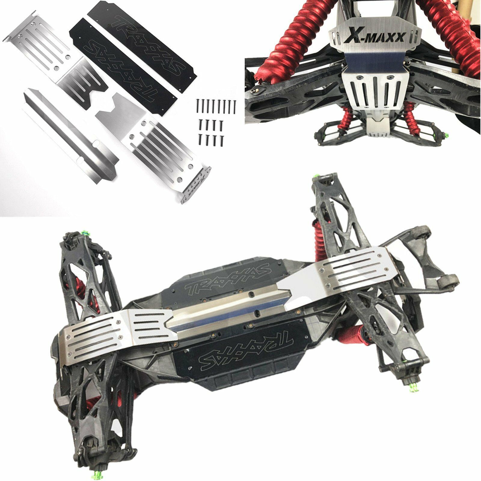 Stainless Steel Chassis Armor Skid Plate Guard for Traxxas X-Maxx XMAXX Crawler