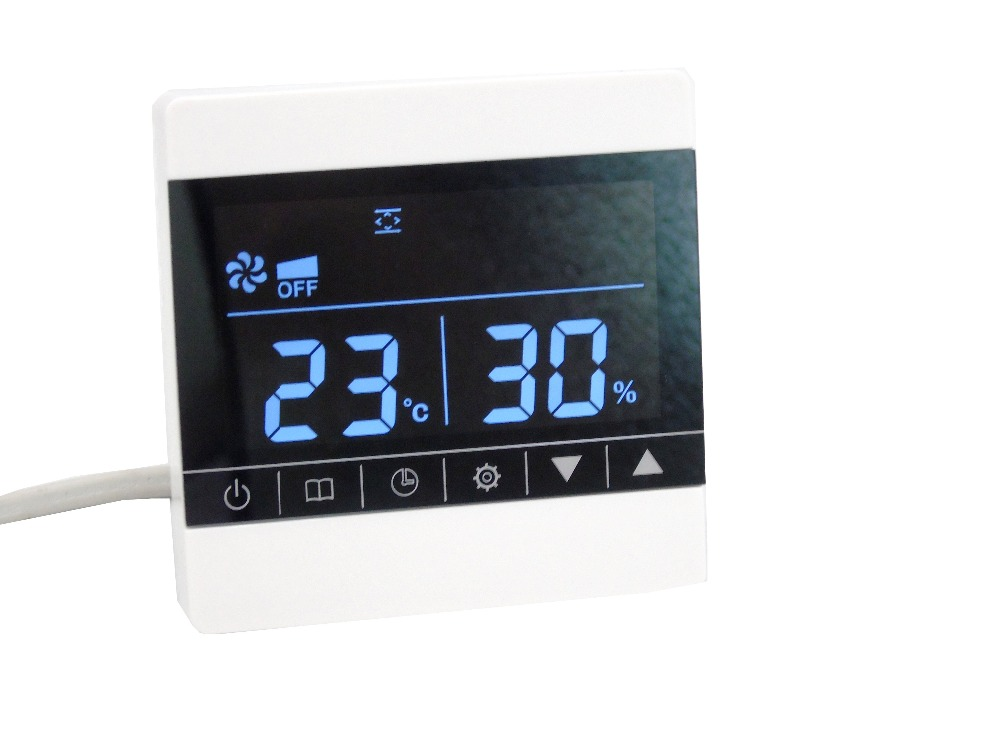 Central Heating Controller Ventilator Fresh Air System Temperature Humidity Sensor Coil Air Conditioner Controller Thermostat