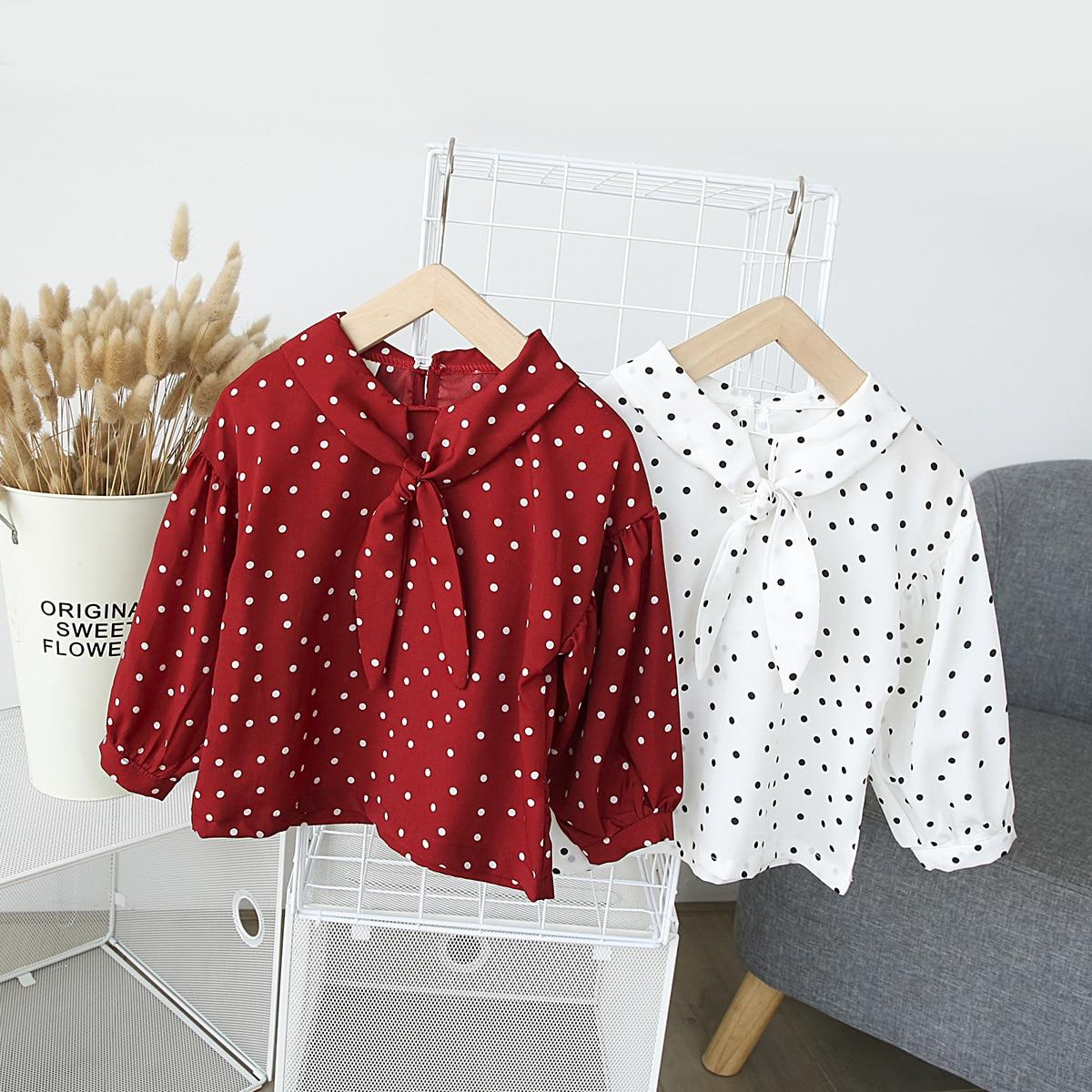 Autumn New Style Childrenswear Korean-style Girls Fashion Elegant Lantern Sleeve Fashionable Long-sleeved Shirt CHILDREN'S Shirt