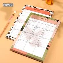 Bloco de planejador semanal com estampa de leopardo, objetivos, notas de papel, livro, semana, planejador, acessórios, planejador de estudo a5