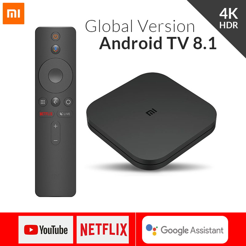 Глобальная версия Xiaomi Mi tv Box S Smart 4K Ultra HD 2G 8G Android 8,1 WiFi Google Cast Netflix медиаплеер IP tv Set top Box 4