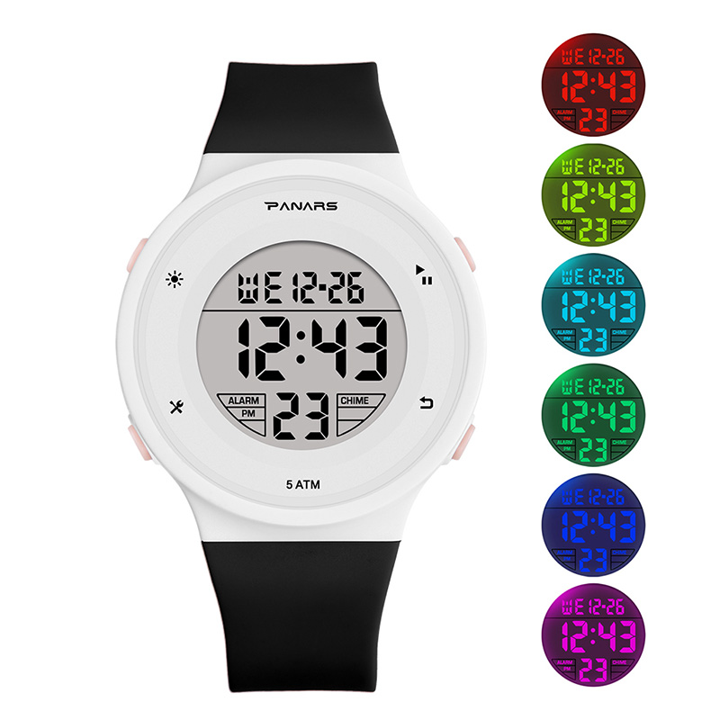 SYNOKE Children Kids LED Electronic Digital Watch 50M Waterproof Dive Clock Sport Watches Colorful Watch For Boys Girls Gift 202