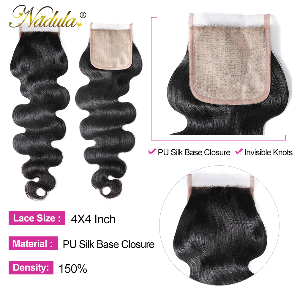 Nadula Hair Lace Closure With Body Wave Bundles   Bundles With Closure  Hair Lace Closure With Bundles 4