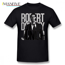 купить Robert Downey Jr T Shirt Robert Downey Junior T-Shirt Print 6xl Tee Shirt Short-Sleeve Fun Streetwear 100 Cotton Mens Tshirt дешево