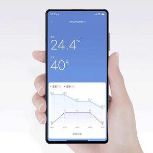 Image 2 - Термометр Xiaomi Mijia 2, Bluetooth датчик температуры и влажности, цифровой гигрометр с ЖК дисплеем, измеритель влажности, работает с приложением Mi home