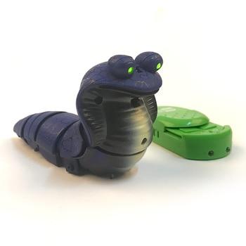 Impulls RC Remote Control Snake Rattlesnake mini snake Animal Trick Terrifying Mischief Toys for Children Funny Novelty Gift New