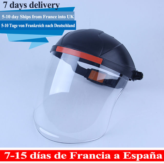 Protective Mask Transparent PVC Safety Anti-Saliva Dustproof  Faces Shields Screen Anti-Virus Spare Visors For Head Face mask