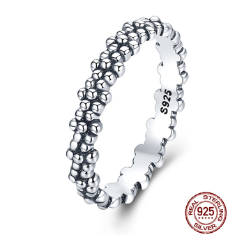 WOSTU Hot Sale 100% 925 Sterling Silver Styles Stackable Ring Party Finger Wedding Rings For Women Original Fashion Jewelry Gift 3