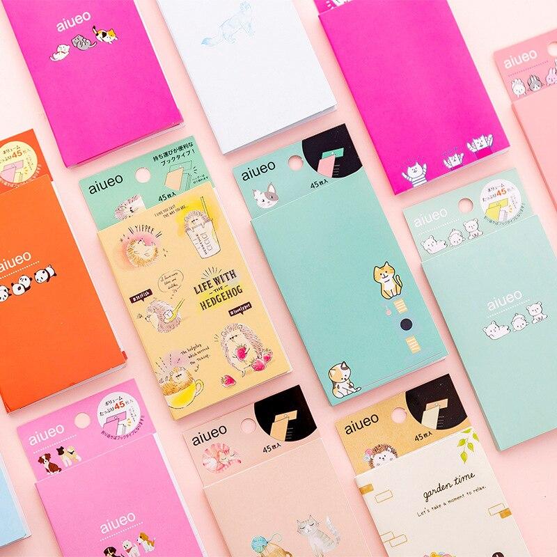 Hedgehog Rabbit Dog Shiba Panda Animal Memo Pad Loose Leaf Notes Escolar Papelaria School Supply Bookmark Label