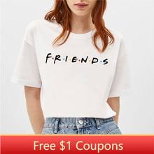 Blingpaw Minimalistische Vrouwen T-shirt Bff Vriend Zomer Korte Mouwen Tops & Tees O-hals Casual Meisje Grote Maat 100% katoen