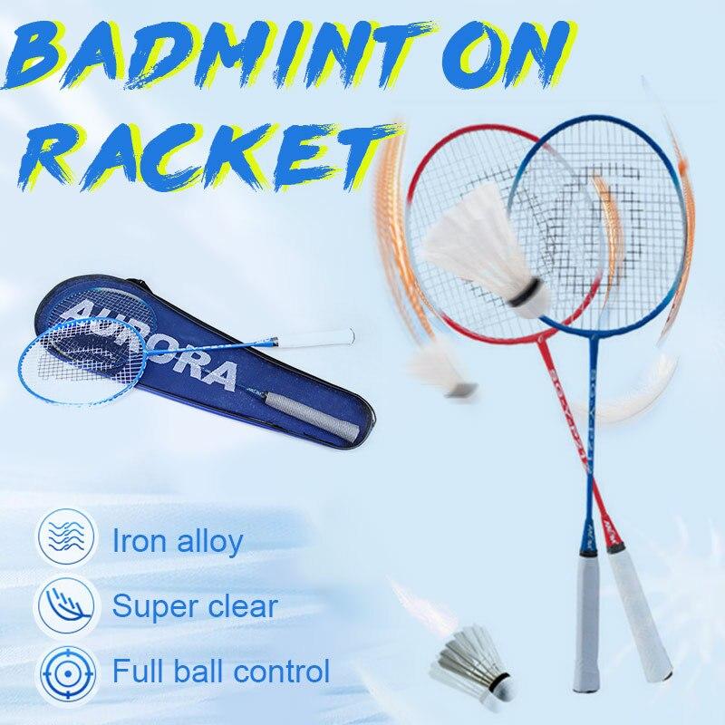 Sports Racket Badminton Racket Toys Sporting Goods Game Professional Racket Ferroalloy Nylon School Movement Fitness