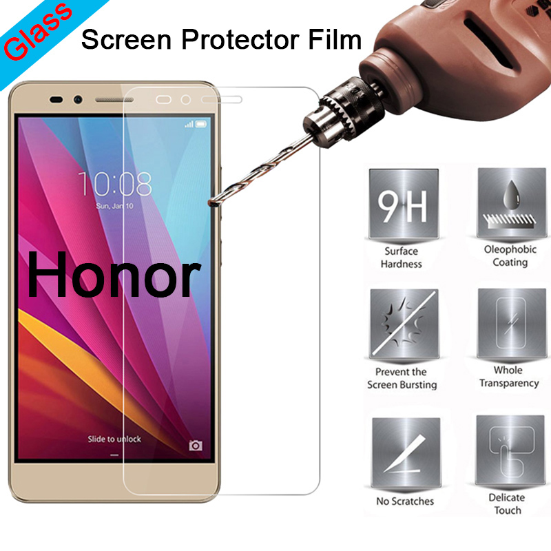 Transparent Tempered Glass For Honor 8X Max 7X 6X 5X 4X Front Film HD Toughed Screen Protector For Huawei Honor 6C Pro 5C 4C 3C