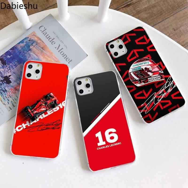 Charles clerc – coque de téléphone portable 16 F1, noire, pour iPhone 11 pro XS MAX 8 7 6 6S Plus X 5s SE 2020 XR