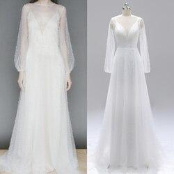 Perlen Perle backless langarm brautkleid hochzeit kleid abendkleid real photo fabrik preis